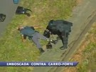 Vigilante de carro-forte  ameaado com bomba e sequestro