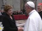 Dilma cumprimenta papa Francisco após missa inaugural; veja