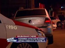 Polícia apreende menores que roubaram carro perto de igreja