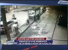 Frentista é agredido por assaltantes