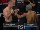 John Lineker encara McDonald na pesagem do UFC
