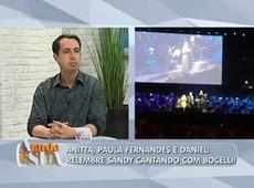 'Ninguém chegou perto da Sandy', diz Sonia Abrão sobre dueto com Bocelli
