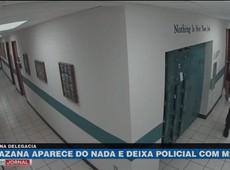 Ratazana aparece do nada e assusta policial em delegacia