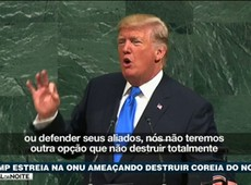 Trump estreia na ONU ameaçando destruir Coreia do Norte