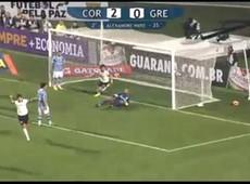 Paulo Andr� faz o segundo gol do Corinthians contra o Gr�mio