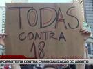 Ato no Rio protesta contra projeto sobre estupro