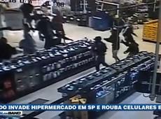 SP: Bando invade hipermercado e rouba celulares e TVs