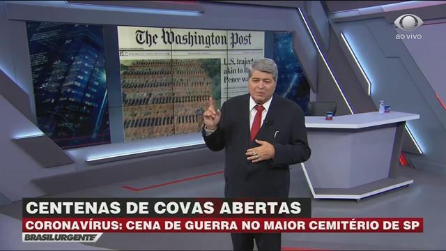 Washington Post usa cemitério de São Paulo em capa de jornal