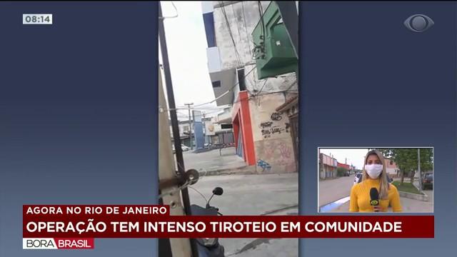 Operação tem intenso tiroteio em comunidade do Rio de Janeiro
