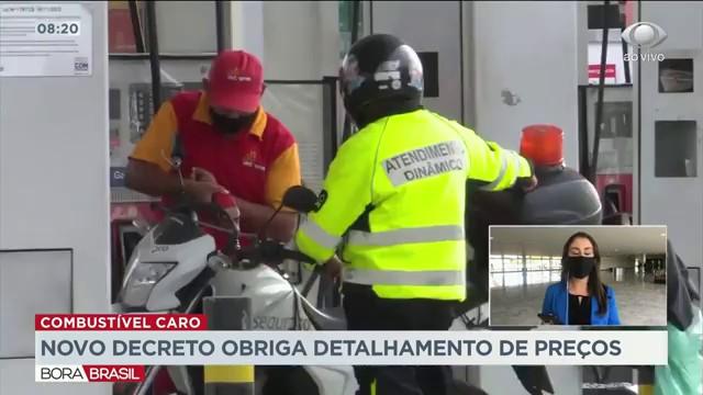 Novo decreto obriga detalhamento de preços dos combustíveis
