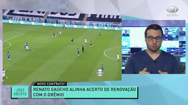 Renato fica? Jogo Aberto atualiza negociação do técnico com Grêmio