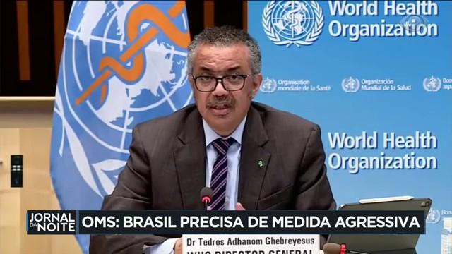 OMS: Brasil precisa de medidas agressivas contra a Covid-19