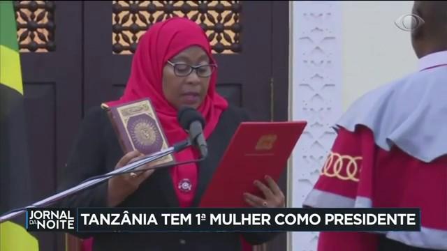 Tanzânia tem 1ª mulher como presidente