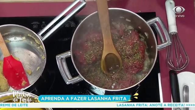 Lasanha frita: saiba como fazer a receita da Raffaela Sandri