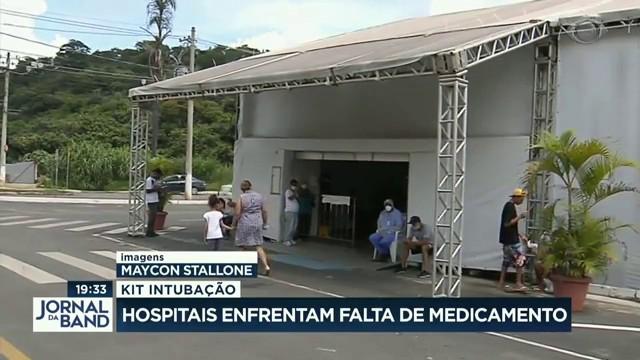 Kit intubação: hospitais enfrentam falta de medicamentos