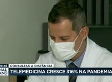 Telemedicina cresce 316% na pandemia