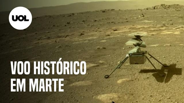 Helicóptero da Nasa em Marte faz voo histórico; veja como foi