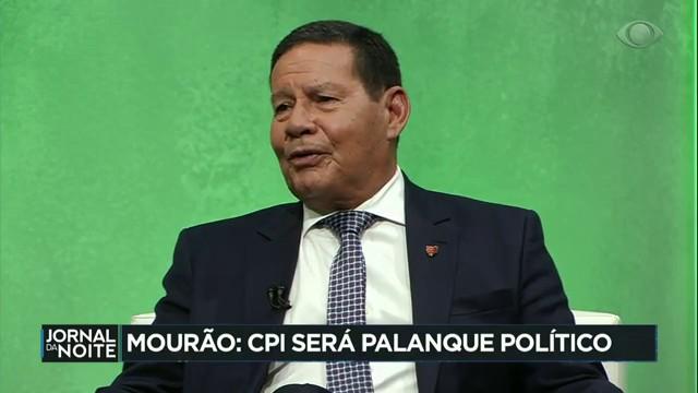 """Mourão diz CPI da Pandemia """"vai servir de palanque eleitoral"""""""