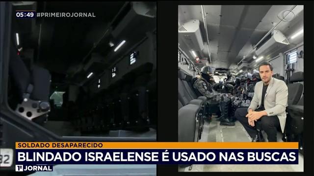 Blindado israelense é usado nas buscas por PM desaparecido em SP