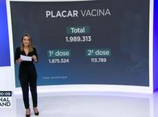 Recorde na vacinação contra covid: Brasil imuniza 2 milhões de pessoas