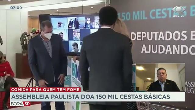 Assembleia Legislativa de São Paulo doa 150 mil cestas básicas