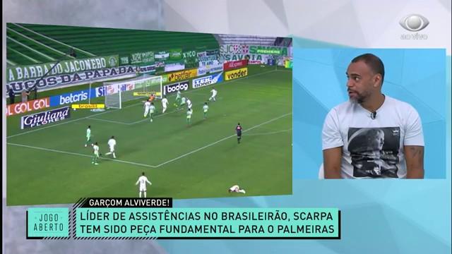 Jogo Aberto comenta sobre Scarpa, líder de assistências do Palmeiras