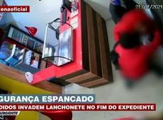 BANDIDOS INVADEM LANCHONETE E ESPANCAM SEGURANÇA