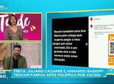 Juliano Cazarré e Armando Babioff trocam alfinetadas