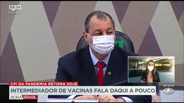 Intermediador de vacinas fala na CPI da Pandemia