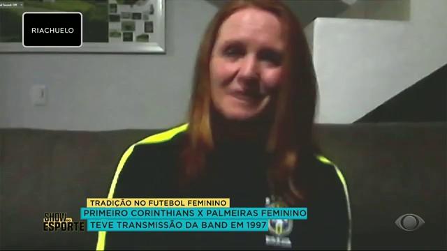 CORINTHIANS X PALMEIRAS FEMININO JÁ TEVE TRANSMISSÃO DA BAND EM 1997