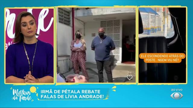 Irmã de Pétala Barreiros filma Lívia Andrade na coleta de DNA