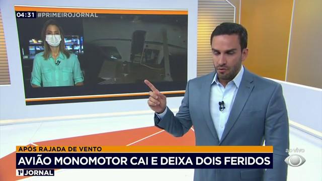 Avião monomotor cai e deixa dois feridos em Minas Gerais