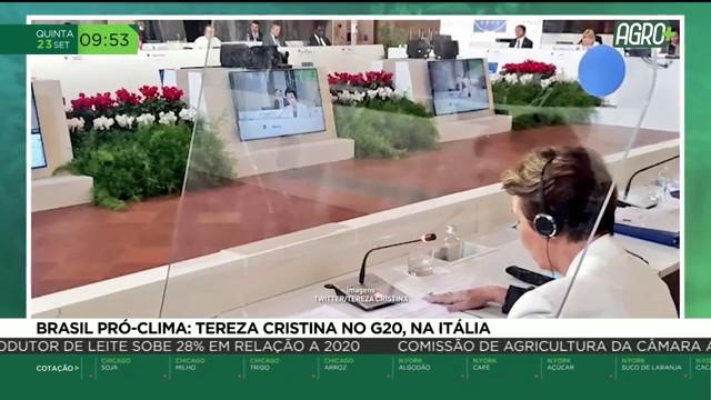 Brasil Pró-Clima: Tereza Cristina no G20, na Itália