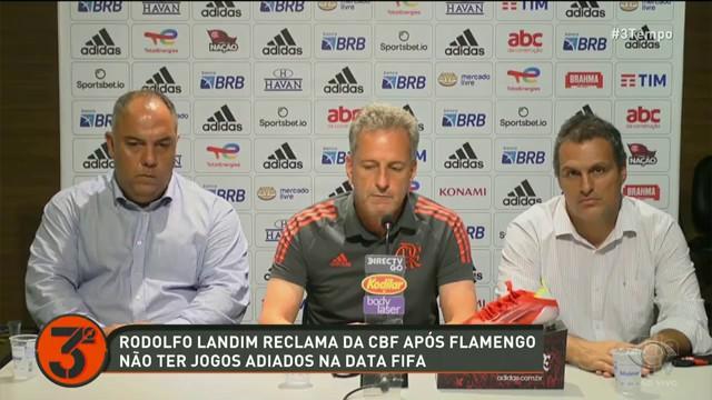 """LANDIM, PRESIDENTE DO FLAMENGO, CRITICA CBF: """"RETALIAÇÃO CONTRA NÓS"""""""