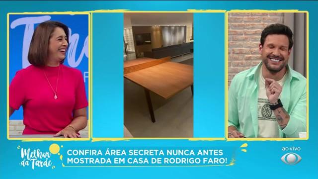 Imagens de área secreta na casa de Rodrigo Faro