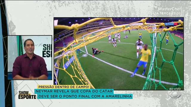 Edmundo debate sobre a fala polêmica de Neymar sobre Copa do Mundo